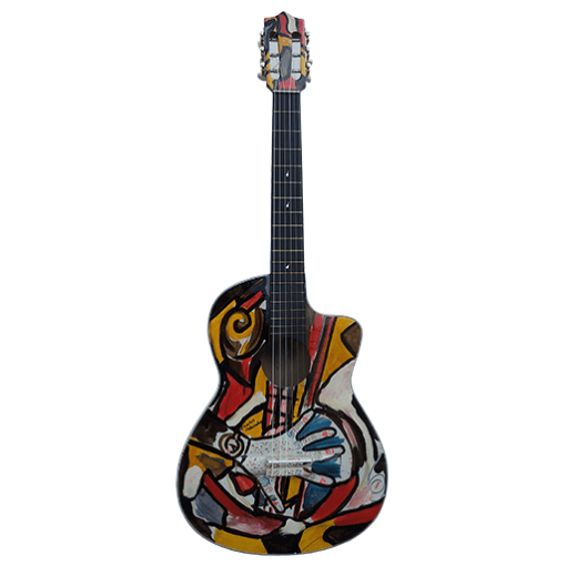 Guitarra-Acústica-Pintada-a-Mano