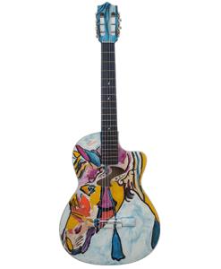 Guitarra Acústica Pintada a Mano
